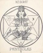 Arcana Pentacles Knight-janeadamsart