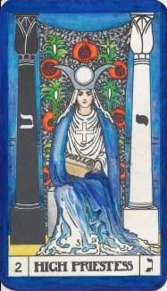 Tarot Key 2 Gimel - High Priestess