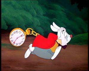 Coelho das horas de Alice, da Disney