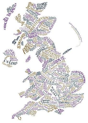Mapa literário, Jane Austen