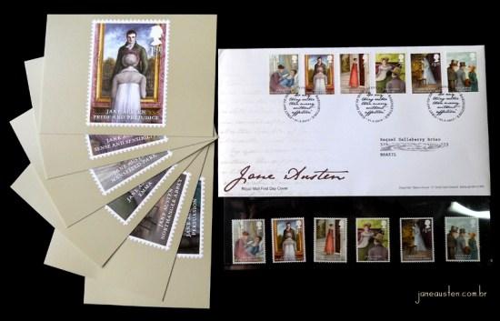 Selos Jane Austen Bicentenário Orgulho e preconceito