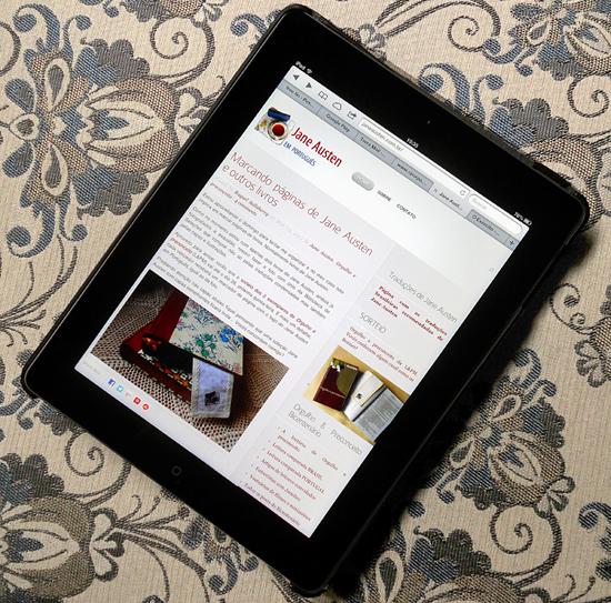 Jane Austen em Português, iPad