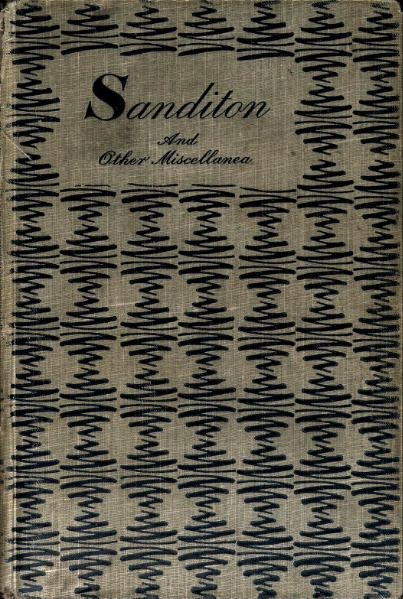 Sanditon and Other Miscellanea,  j. Dent