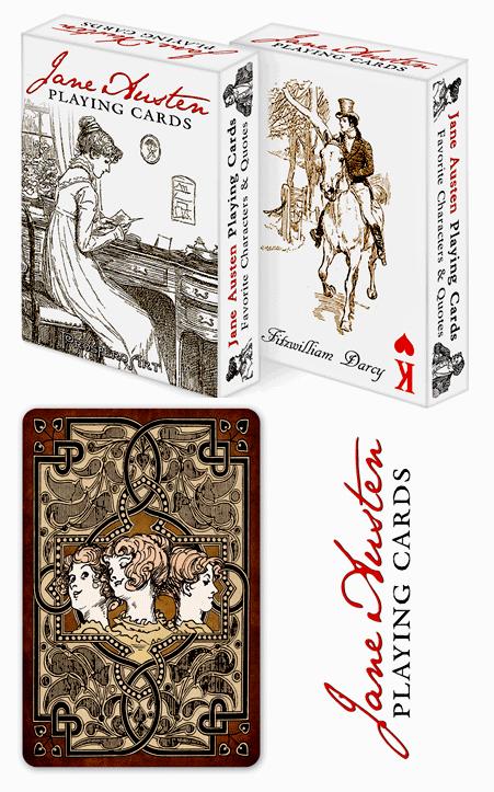 Jane Austen Playin Cards