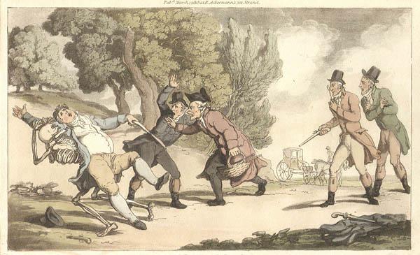 Thomas Rowlandson - The Duel