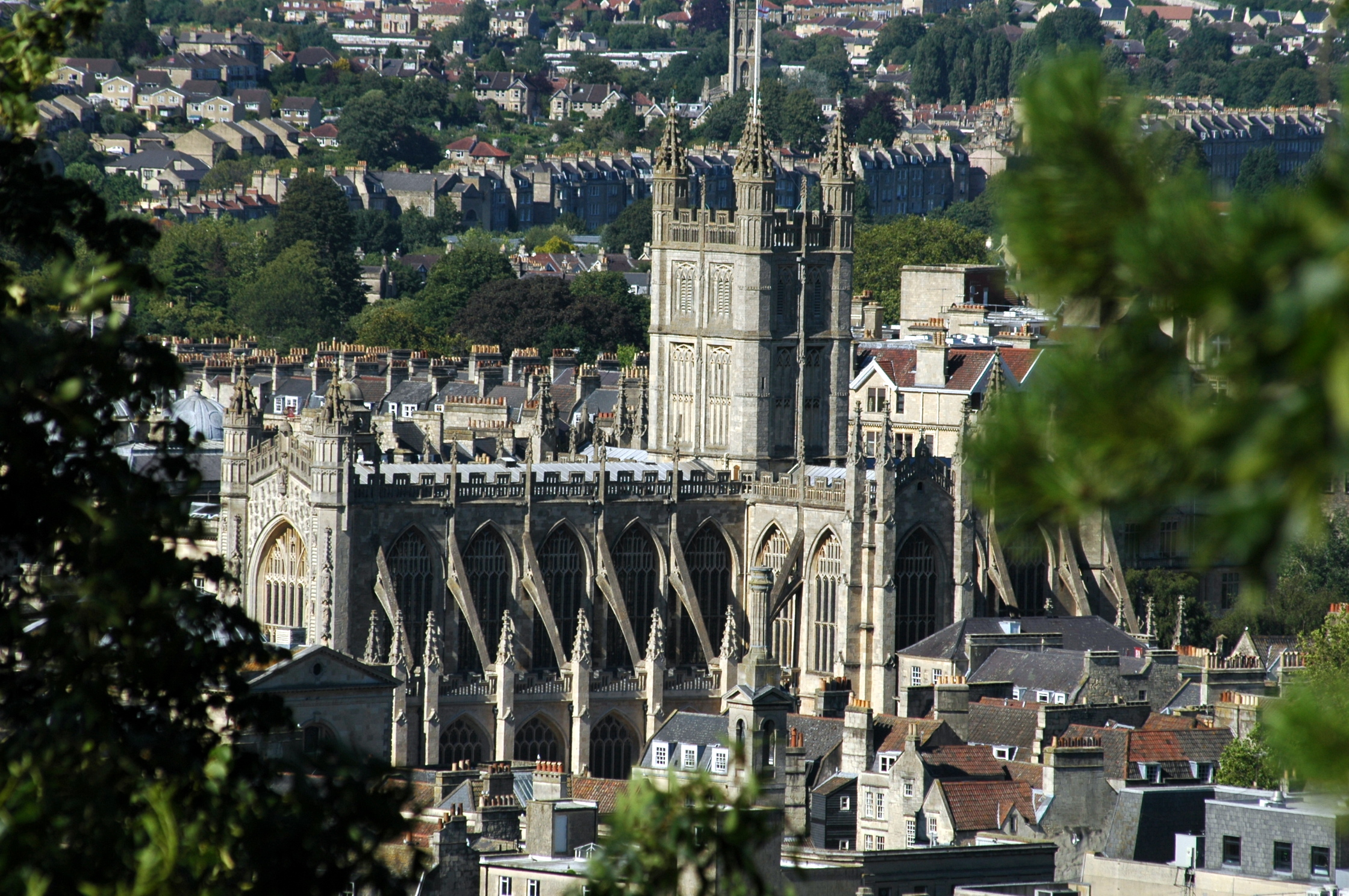 Bath Abbey from Beechen Cliff today