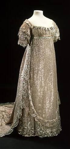 Princess Charlotte's silver net wedding gown, 1815