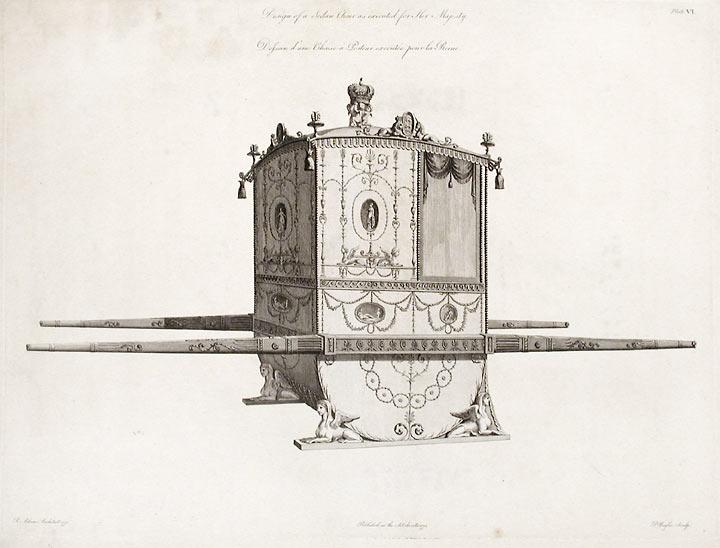 sedan chair rental eiffel dining chairs an efficient mode of transportation in georgian london robert adam s design for a queen charlotte 1775 click