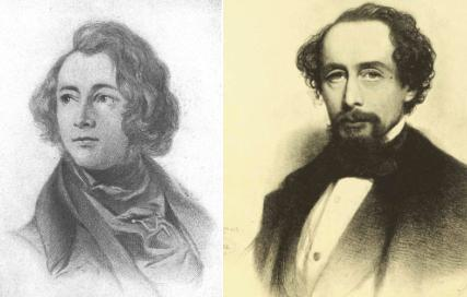Charles Dickens as a youth and as a man