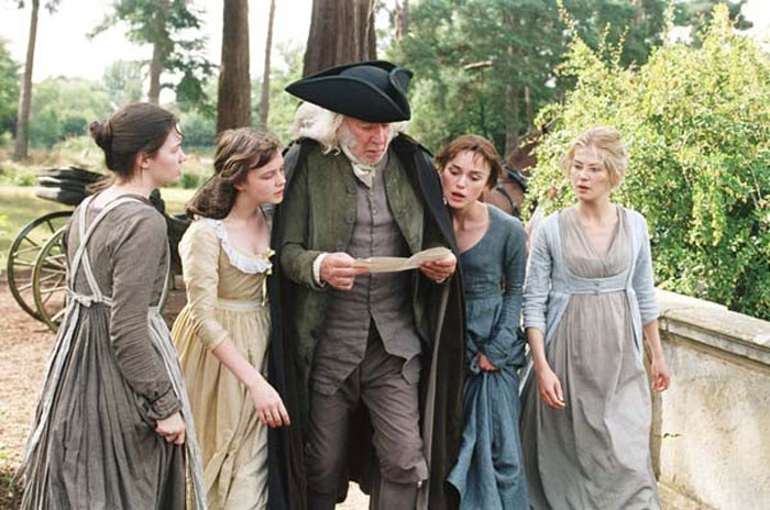 Mr. Bennet and his daughters