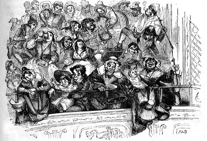 astley's amphitheatre balconey audience