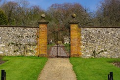 Gates to the kitchen garden, by Tony Grant