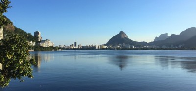 Den smukke sø Lagoa Rodrigo de Freitas