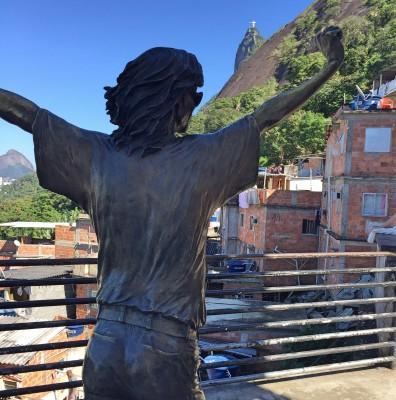 Michael Jackson i Santa Marta favelaen