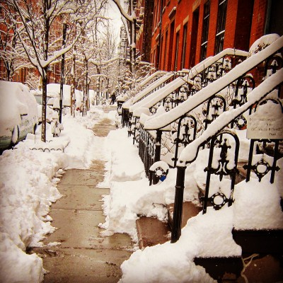 Snow in Greenwich Village