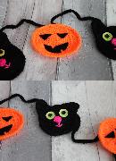 Cat and Pumpkin Bunting