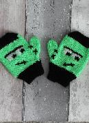 Frankenstein Mittens