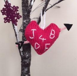 jane burns love heart knittedtree