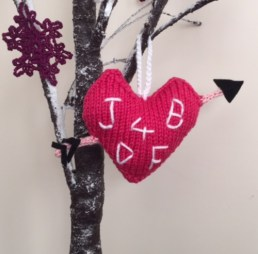 jane burns love heart knittedtree