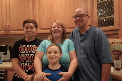Brother Bill, sister in law Patty and two of their four kids, Becca and Billy