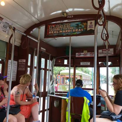 On the trolley