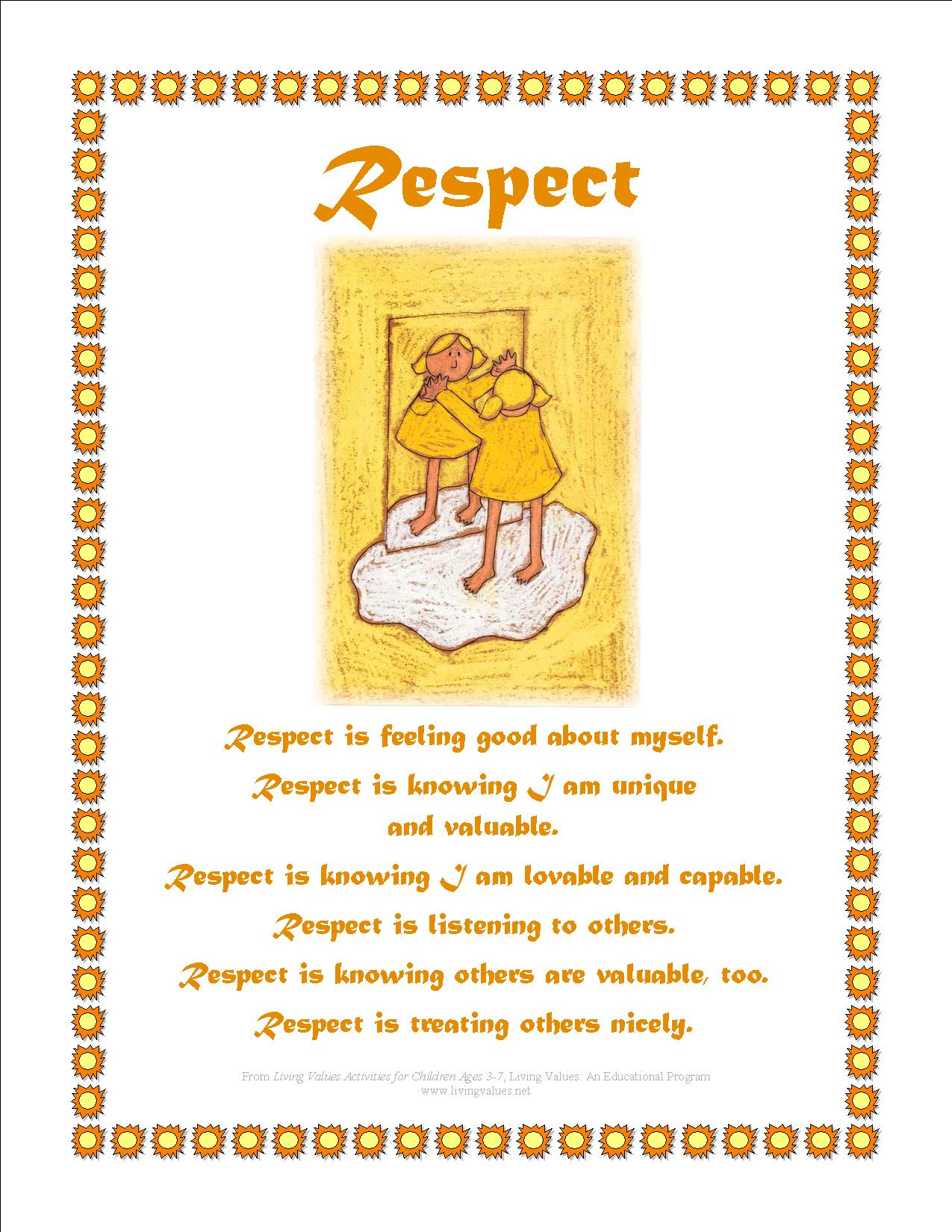 Respect Definition For Kids
