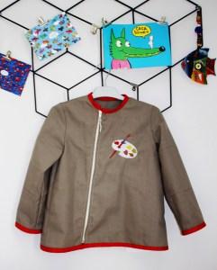 blouse peinture enfant