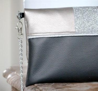 sac à main pochette paillettes