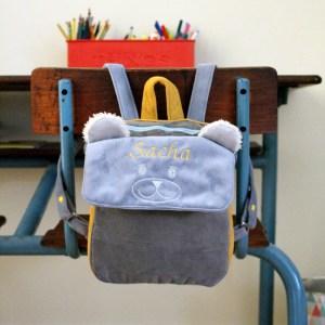 sac à dos enfant brodé