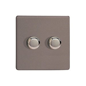 2gang dimmer bedroom lighting