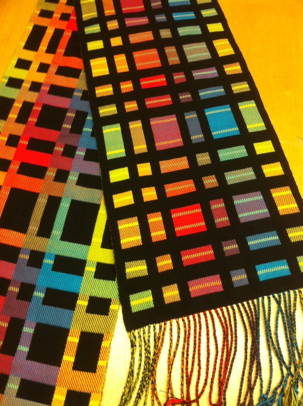 Colourplay scarf 1 Jane Flanagan