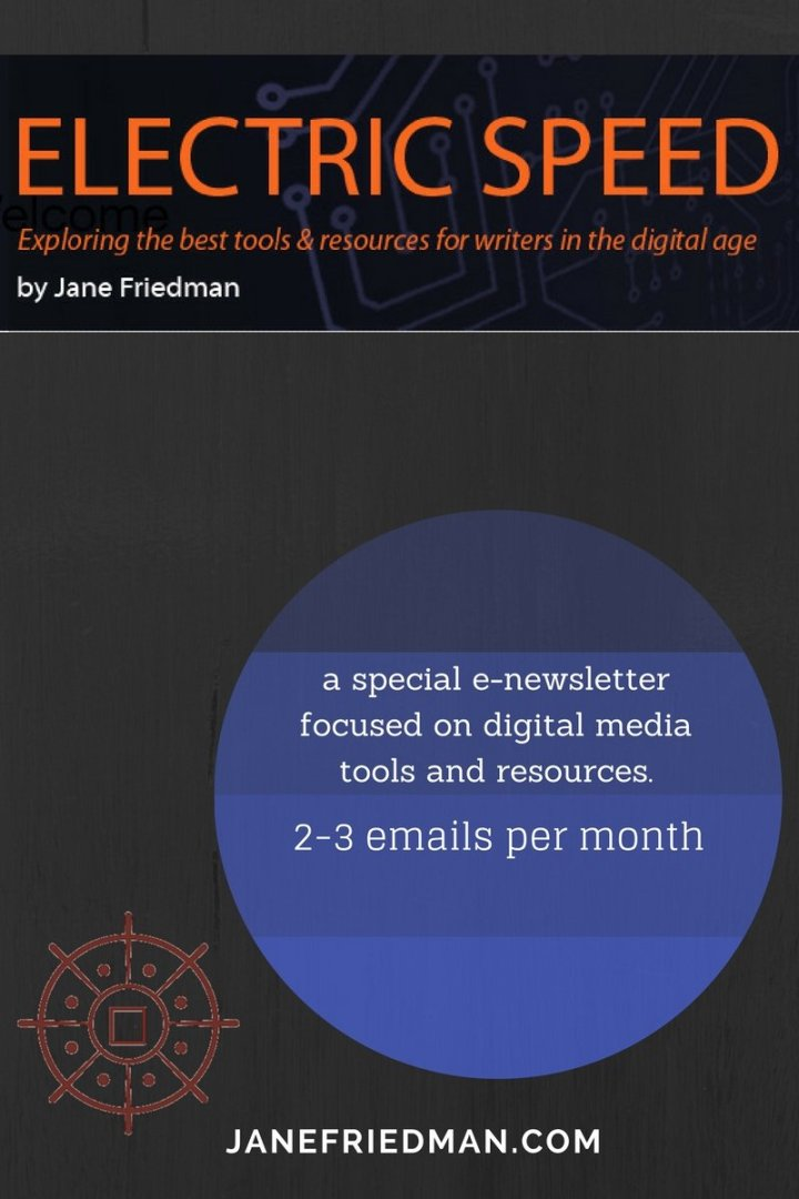 Free E-mail Newsletter, Option 3: Electric Speed: a special e-newsletter that I send 2-3 times per month, focused on digital media tools and resources.