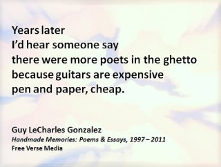 Porter Anderson, Writing on the Ether, Jane Friedman, author, publisher, agent, books, publishing, digital, ebooks, Guy LeCharles Gonzalez, Guy Gonzales, poetry, Handmade Memories: Poems & Essays 1997 – 2011, Free Verse Media, chapbook
