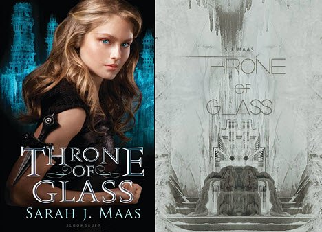 From Huffington Post Books, the Bloomsbury USA hardcover for Sarah J. Maas' Throne of Glass, left, and a reinterpretation by Ardawling