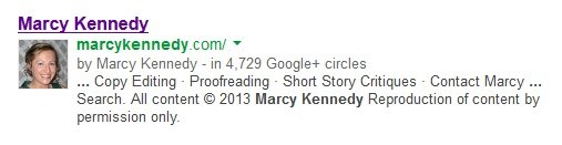Search result with Google Authorship