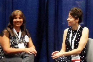 Barbara Freethy, left, and agent Kristin Nelson at BEA on May 30