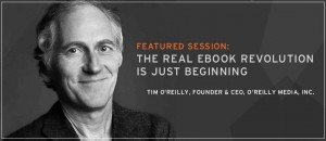 Tim O'Reilly banner for DBW14