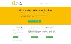Author Earnings site home