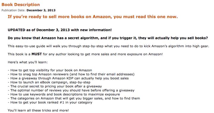 Amazon description