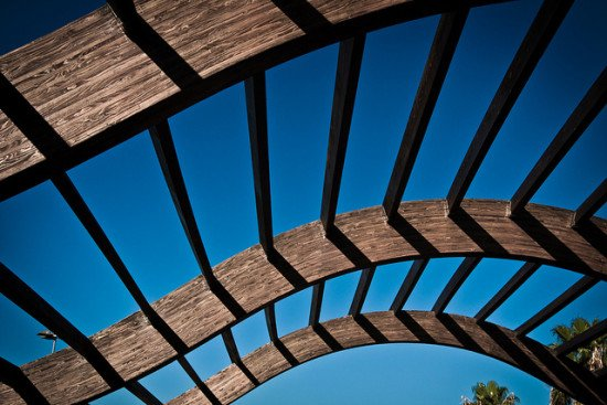Image of a wooden support structure by eljoja via Flickr