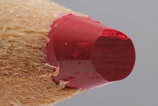 A closeup of the tip of a red pencil by suzumi3 via Flickr