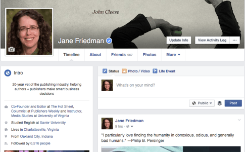 Friedman profile on Facebook