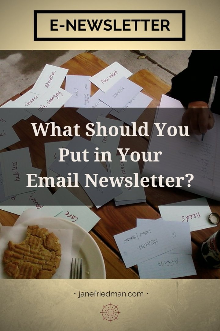 """""""Consider email simply as another piece of content for your readers. You can create content, right? I thought so. Then you can write an email without freaking out. I promise."""" -author Kirsten Oliphant third post in a series on email about making the process of writing an e-newsletter simple and accessible"""