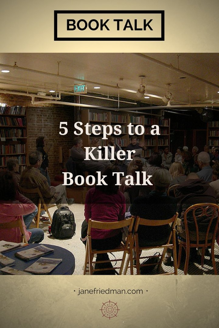 "Kate Raphael on prepping for a great book talk: ""An engaging talk can get you invited to be on panels or radio shows. That's happened to me a couple times. But it takes as much work as writing a guest blog or an op-ed."""
