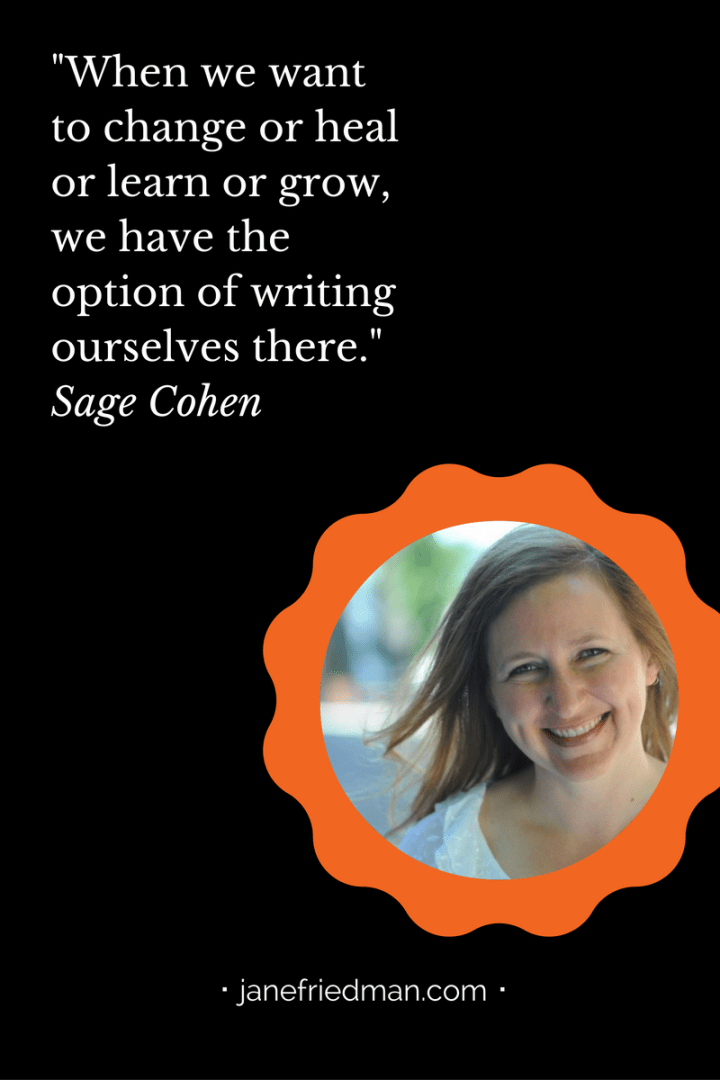What It Means to Be Fierce on the Page -- I first met poet and author Sage Cohen (@sagecohen) at the Willamette Writers Conference, while I was an editor at Writer's Digest. The first thing that struck me about her was her laugh; you could hear it from across the hotel. I also recall her wearing a lovely silver necklace that said one word: Bloom. (I immediately asked her about the artist who created it and ordered something similar for myself!)