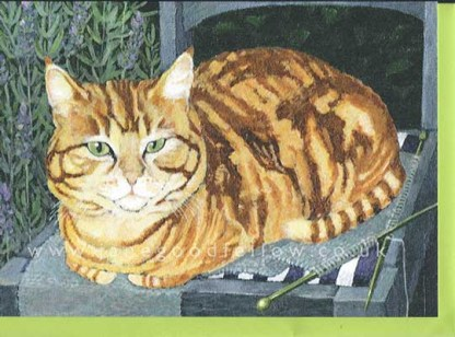 For Sale - Tigger's Knitting Card