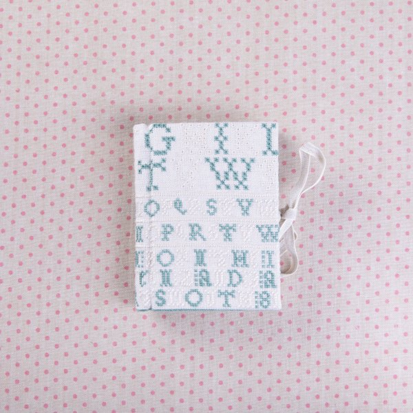 Alphabets in Cream and Green (A6)