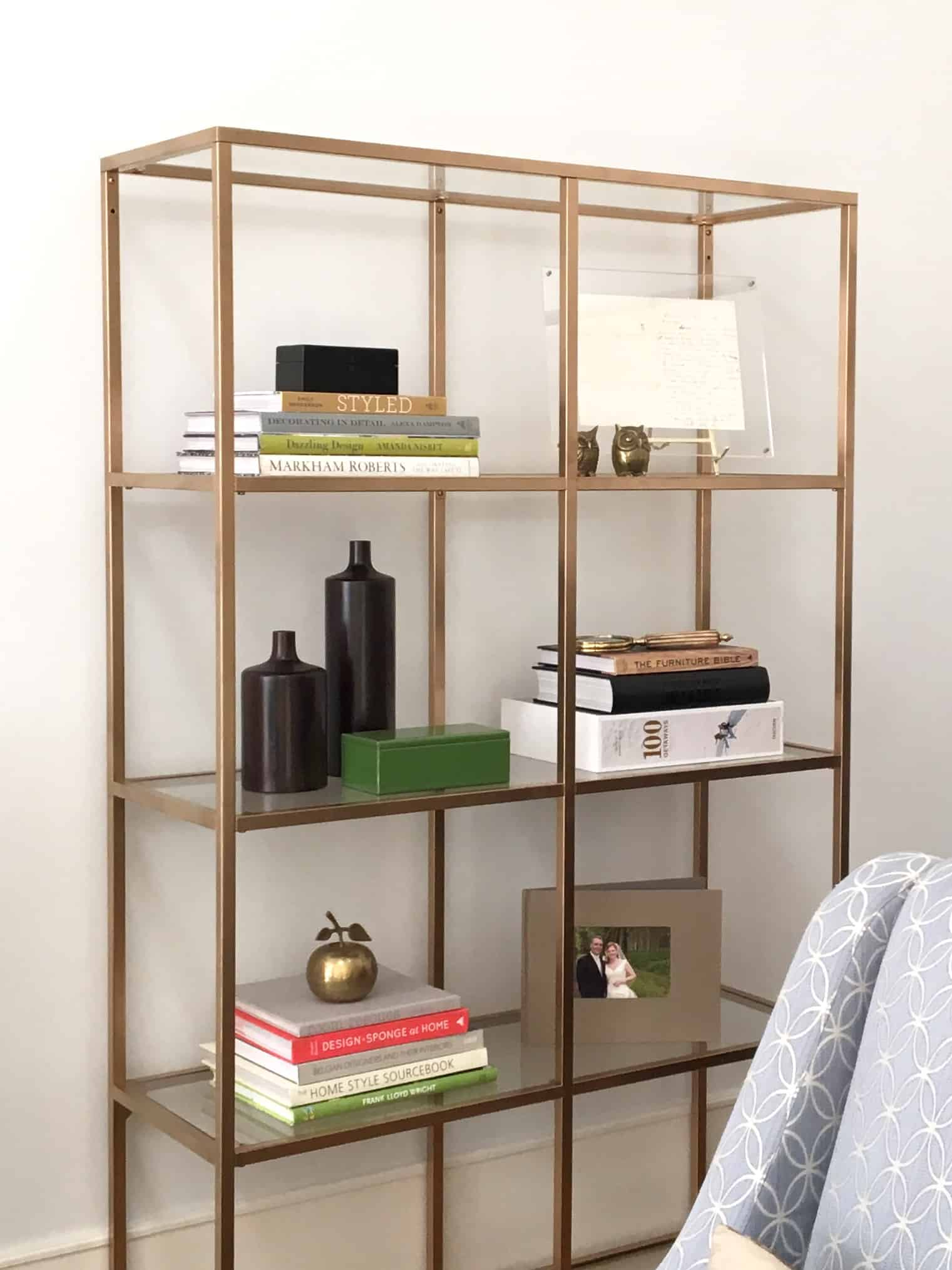 DIY Project Ikea Hack Faux Brass Bookshelf Jane Hogan Designs