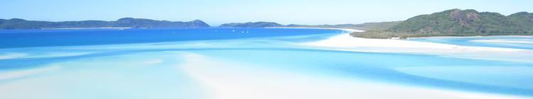 Panorama Whitesandy beach Lagune whitsundays