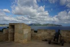 Kanone auf dem Castell Punta de n'Amer